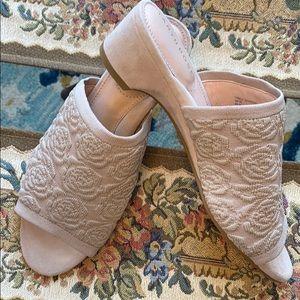 Taryn Rose Slip on Dress Mule-Nancy  Ceramic Sz 5